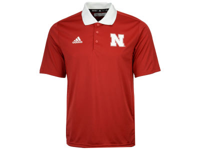Nebraska Cornhuskers adidas 2017 NCAA Men's Coaches Polo