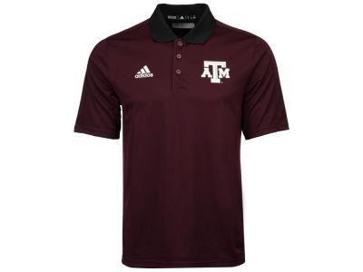 Texas A&M Aggies adidas 2017 NCAA Men's Coaches Polo