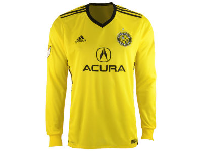 Columbus Crew SC adidas MLS Men's Long Sleeve Primary Authentic Jersey
