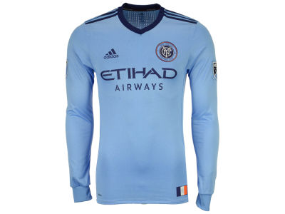New York City FC adidas MLS Men's Long Sleeve Primary Authentic Jersey