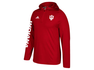 Indiana Hoosiers adidas NCAA Men's Sideline Quarter Zip Training Hood
