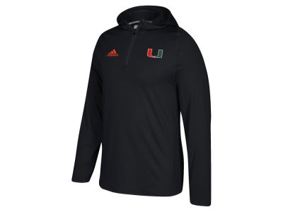Miami Hurricanes adidas NCAA Men's Sideline Quarter Zip Training Hood