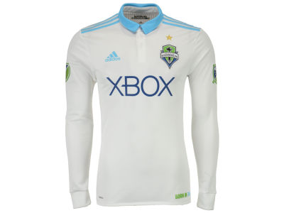 Seattle Sounders FC adidas MLS Men's Long Sleeve Secondary Authentic Jersey