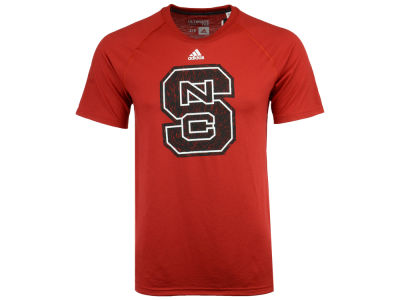 North Carolina State Wolfpack adidas NCAA Men's White Noise Logo T-Shirt