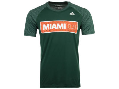 Miami Hurricanes adidas NCAA Men's White Noise Scoreboard T-Shirt