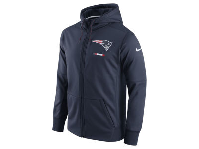 New England Patriots Nike NFL Men's Therma Full Zip Hoodie