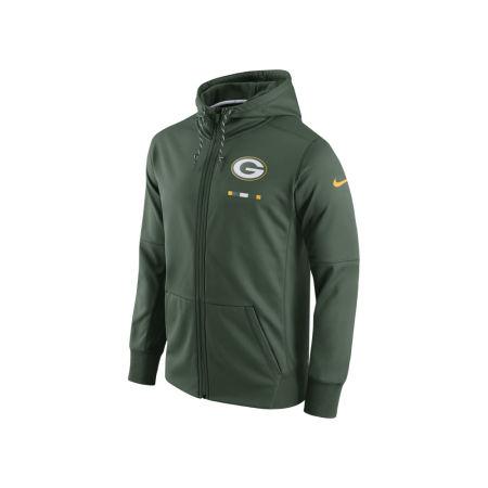 Green Bay Packers Nike NFL Men's Therma Full Zip Hoodie