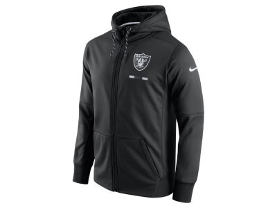 Oakland Raiders Nike NFL Men's Therma Full Zip Hoodie
