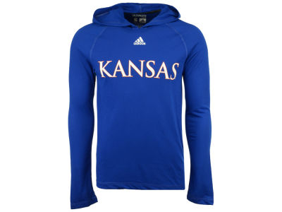 Kansas Jayhawks adidas NCAA 2017 Men's Mark My Words Long Sleeve Ultimate Hooded T-Shirt
