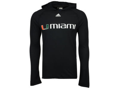 Miami Hurricanes adidas NCAA 2017 Men's Mark My Words Long Sleeve Ultimate Hooded T-Shirt