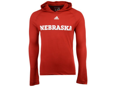Nebraska Cornhuskers adidas NCAA 2017 Men's Mark My Words Long Sleeve Ultimate Hooded T-Shirt