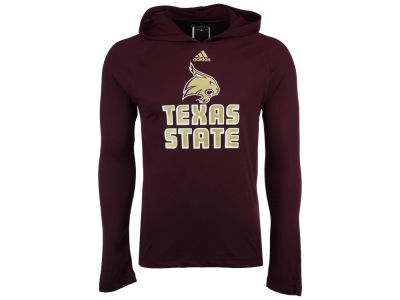 Texas State Bobcats adidas NCAA 2017 Men's Mark My Words Long Sleeve Ultimate Hooded T-Shirt