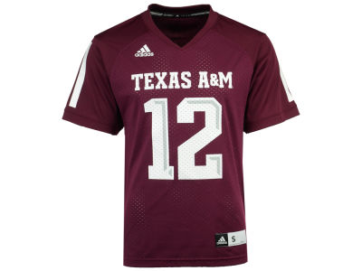 Texas A&M Aggies #12 adidas NCAA Replica Football Jersey