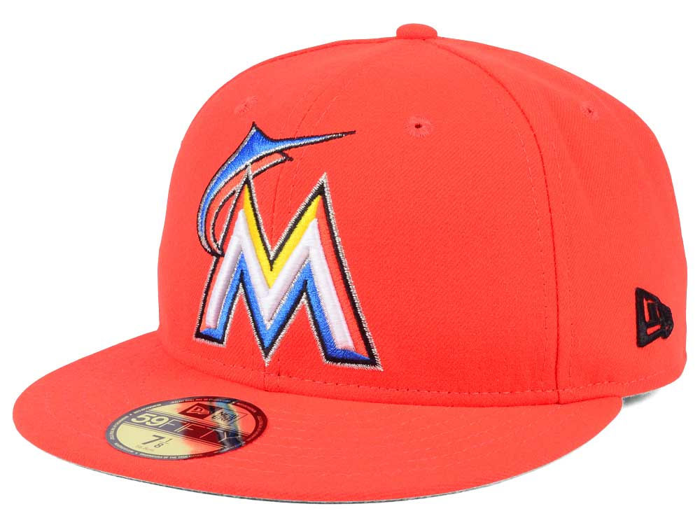 Miami Marlins New Era MLB Authentic Collection 59FIFTY Cap  d765a6b163a