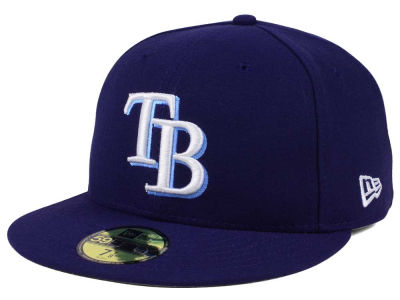 Tampa Bay Rays New Era MLB Authentic Collection 59FIFTY Cap 389ede47c