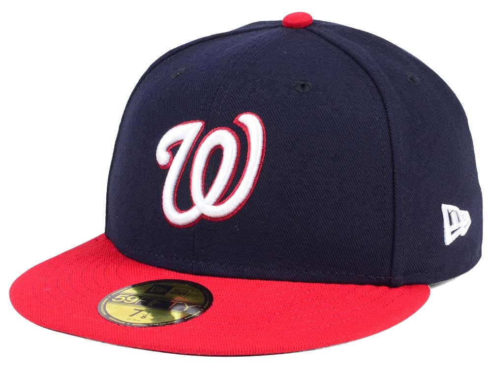 1a5107582e7 Washington Nationals New Era MLB Authentic Collection 59FIFTY Cap