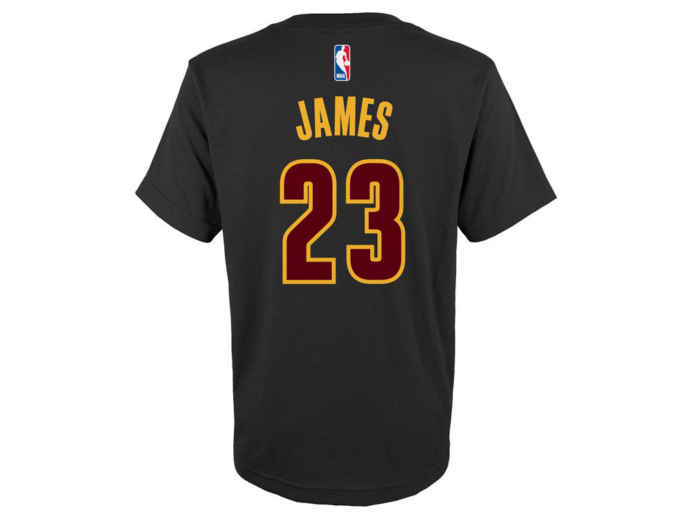 e333d253a Cleveland Cavaliers LeBron James adidas NBA Kids Name And Number T-Shirt