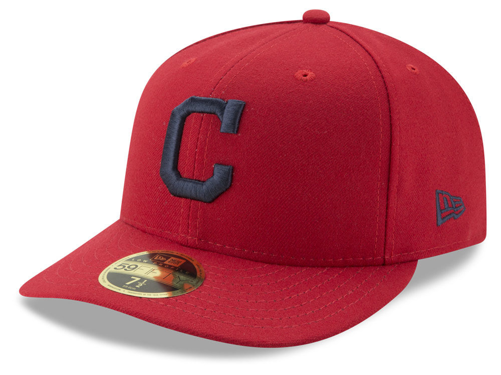 huge inventory 1d873 35a37 clearance cleveland indians new era mlb low profile ac performance 59fifty  cap 20eb2 011fb