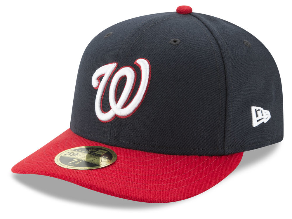 Washington Nationals New Era MLB Low Profile AC Performance 59FIFTY Cap  ae6d3620e43c