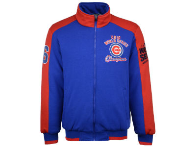 Chicago Cubs GIII MLB Men's 2016 World Series Champions Logo Poly Jacket