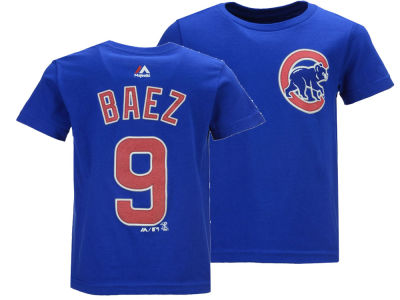 Chicago Cubs Javier Baez Majestic MLB Toddler Official Player T-Shirt