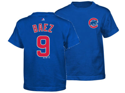 Chicago Cubs Javier Baez Majestic MLB Kids Official Player T-Shirt