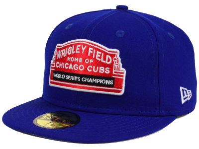 Chicago Cubs New Era MLB World Series Champ Marquee 59FIFTY Cap