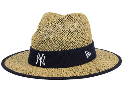 New York Yankees New Era MLB Training Straw Hat