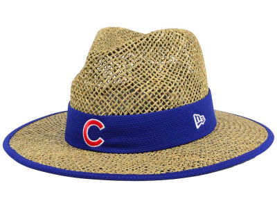 Chicago Cubs New Era MLB Training Straw Hat
