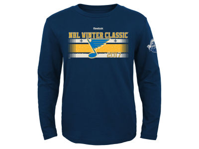 St. Louis Blues Reebok 2017 NHL Youth Winter Classic Team Chemisty Long Sleeve T-Shirt