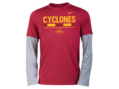 Iowa State Cyclones Nike NCAA Youth Legend Long Sleeve Staff T-Shirt