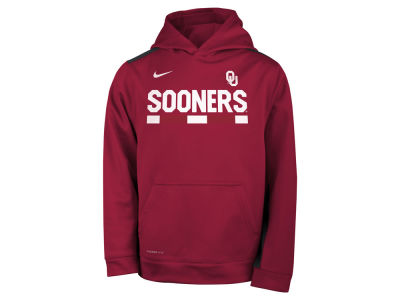 Oklahoma Sooners Nike NCAA Youth Therma Color Block Hoodie