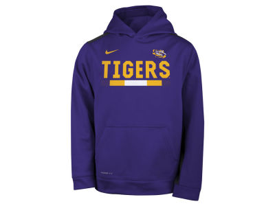 LSU Tigers Nike NCAA Youth Therma Color Block Hoodie