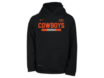 Oklahoma State Cowboys Nike NCAA Youth Therma Color Block Hoodie