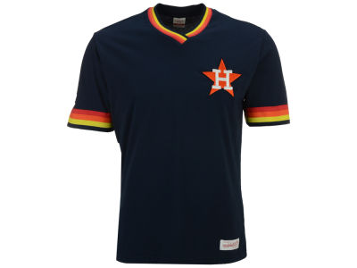 Houston Astros Mitchell & Ness MLB Men's Coop Overtime Vintage Top