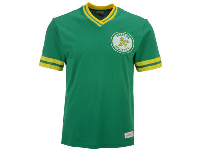 Oakland Athletics Mitchell & Ness MLB Men's Coop Overtime Vintage Top