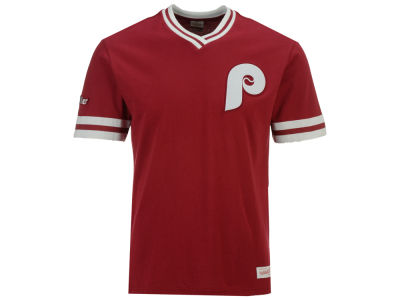 Philadelphia Phillies Mitchell & Ness MLB Men's Coop Overtime Vintage Top
