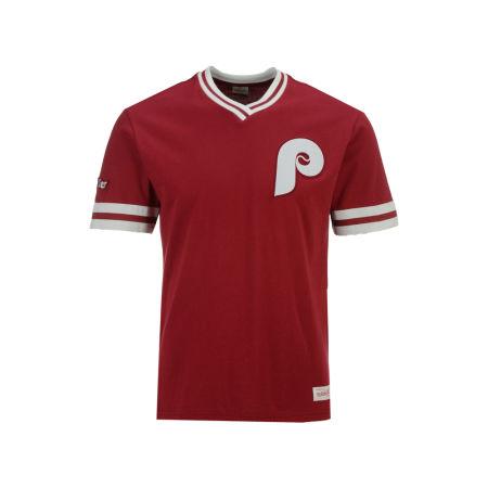 Philadelphia Phillies Mitchell & Ness MLB Men's Coop Overtime Vintage Top