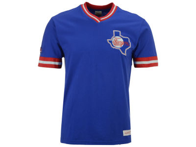 Texas Rangers Mitchell & Ness MLB Men's Coop Overtime Vintage Top