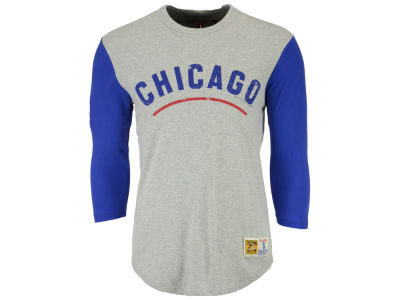 Chicago Cubs Mitchell and Ness MLB Men's Scoring Position Raglan T-Shirt