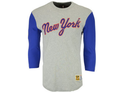 New York Mets Mitchell and Ness MLB Men's Scoring Position Raglan T-Shirt
