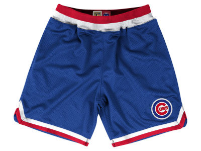 Chicago Cubs Mitchell and Ness MLB Men's Playoff Win Shorts