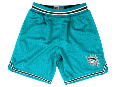 Florida Marlins Mitchell and Ness MLB Men's Playoff Win Shorts