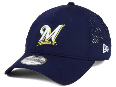 Milwaukee Brewers New Era MLB Perf Pivot 2 9TWENTY Adjustable Cap