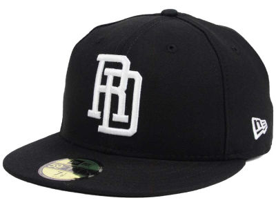 Dominican Republic New Era 2016 World Baseball Classic Black White 59FIFTY Cap