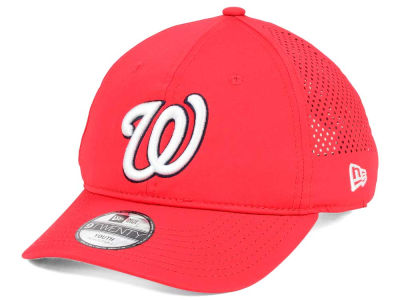 Washington Nationals New Era MLB Jr Perf Pivot 2 9TWENTY Adjustable Cap