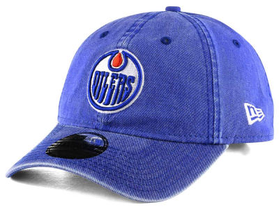 Edmonton Oilers New Era NHL Rugged Wash 9TWENTY Strapback Cap