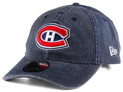 Montreal Canadiens New Era NHL Rugged Wash 9TWENTY Strapback Cap