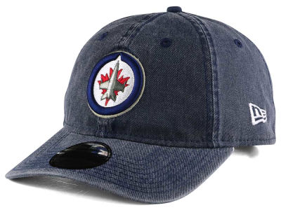 Winnipeg Jets New Era NHL Rugged Wash 9TWENTY Strapback Cap