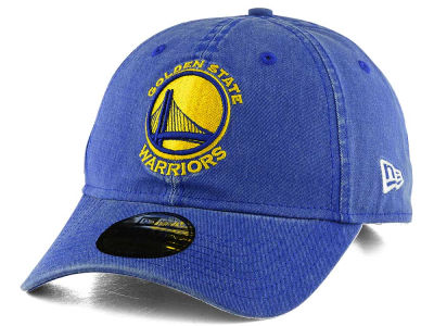 Golden State Warriors New Era NBA Rugged Wash 9TWENTY Strapback Cap